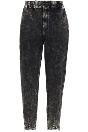 J BRAND Women High Waisted - Woman Daniella Acid-wash High-rise Tapered Jeans Anthracite Size 24