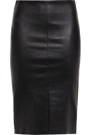 DROME Women Pencil Skirts - Woman Leather Pencil Skirt Size L