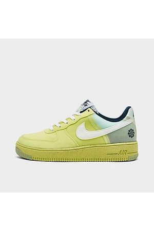 Nike Casual Shoes - Big Kids' Air Force 1 Crater Casual Shoes in /Light Lemon Twist Size 3.5 Leather