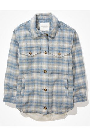 American Eagle Outfitters Brushed Plaid Shacket Women's XXS
