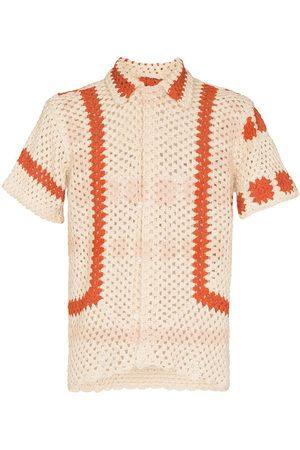 BODE Sunspot crochet short-sleeve shirt