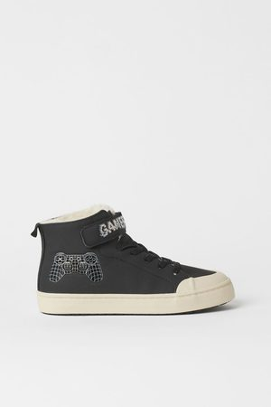 H&M Kids Sneakers - Faux Shearling-lined High Tops