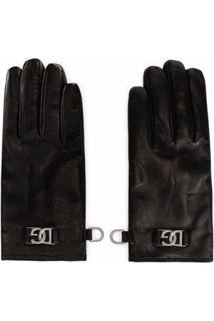 Dolce & Gabbana Men Gloves - Leather DG logo-plaque gloves