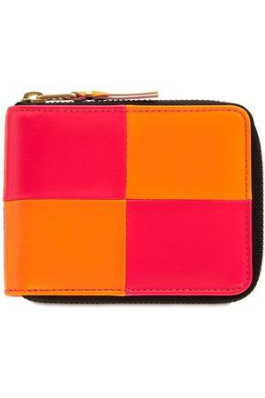 Comme des Garçons Fluo Squares Leather Wallet