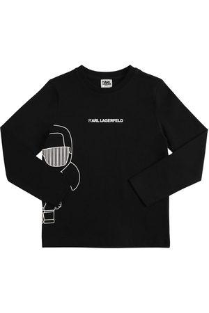Karl Lagerfeld Boys T-shirts - Printed L/s Organic Cotton T-shirt