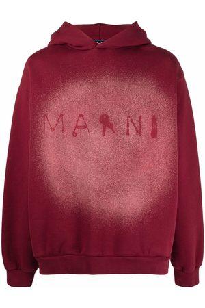 Marni Paint splatter logo-print hoodie