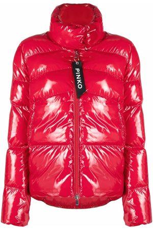 Pinko High-shine effect puffer jacket