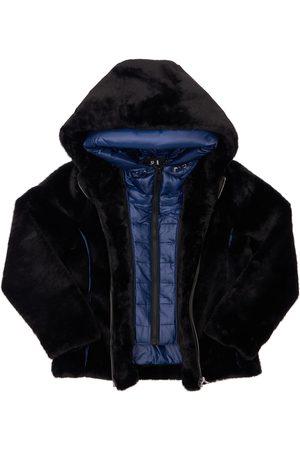 Bomboogie Faux Fur & Nylon Puffer Jacket