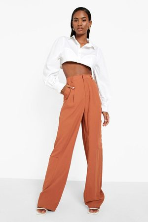 Boohoo Womens Straight Leg Tailored Cargo Trouser - - 2