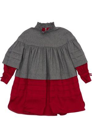 Mimisol Girls Dresses - Tiered Cupro & Cotton Blend Dress