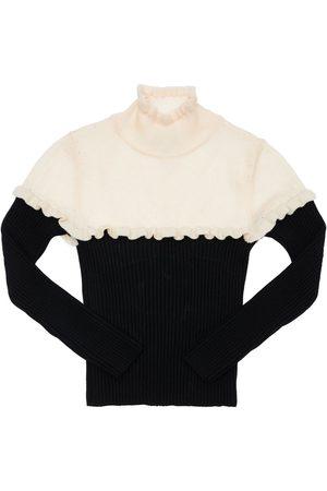 Mimisol Girls Turtlenecks - Turtleneck Wool Knit Sweater