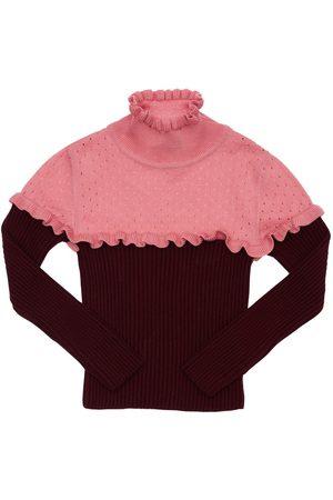 Mimisol Turtleneck Wool Knit Sweater