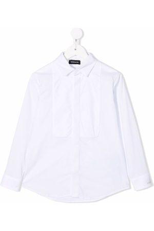 MONNALISA Boys Shirts - Tuxedo stretch-cotton shirt