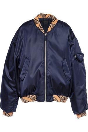 Prada Men Bomber Jackets - Re-Nylon bomber jacket