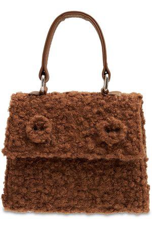 Mimisol Girls Rucksacks - Faux Fur Top Handle Bag