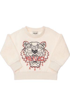 Kenzo Embroidered Cotton Blend Sweatshirt