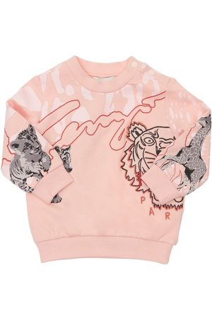 Kenzo Printed Cotton Blend Sweatshirt
