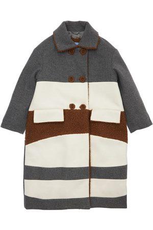 Mimisol Girls Coats - Striped Double Breast Coat