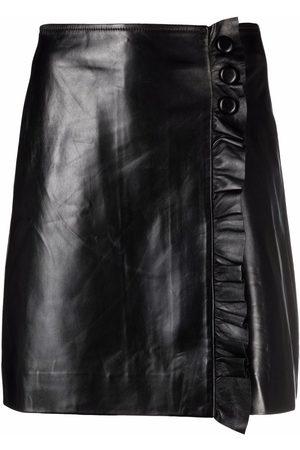 Sandro Paris Straight-leg leather miniskirt