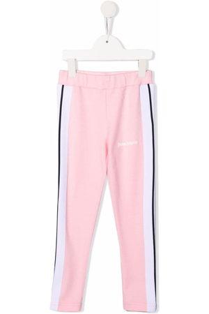 Palm Angels Kids Girls Sweatpants - Side-stripe track leggings