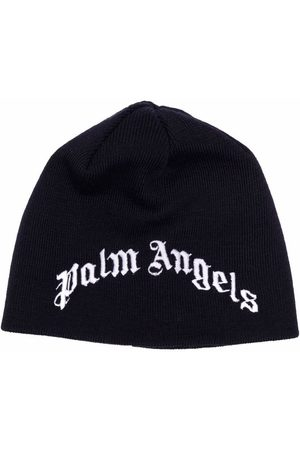 Palm Angels Kids Logo-embroidered beanie