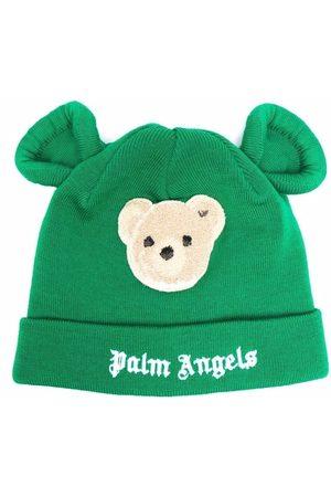 Palm Angels Kids Boys Beanies - PALM ANGELS BEAR BEANIE BROWN