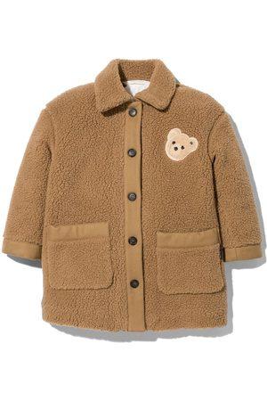 Palm Angels Kids Bear-motif coat