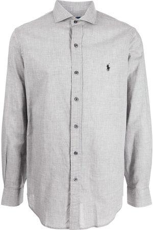 Polo Ralph Lauren Heather poplin long-sleeve shirt - Grey
