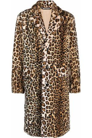 Palm Angels Leopard faux-fur coat