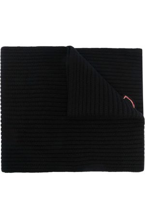Moncler Women Scarves - Knitted logo-patch scarf