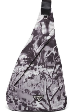 Prada Re-Nylon abstract-print shoulder bag - Grey