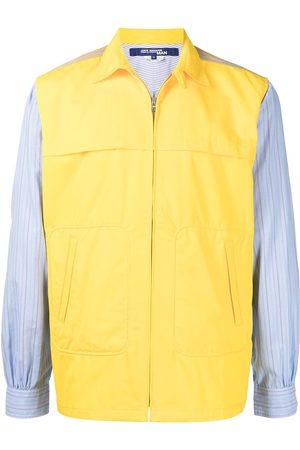 JUNYA WATANABE Men Shirts - Two-tone zip-up shirt