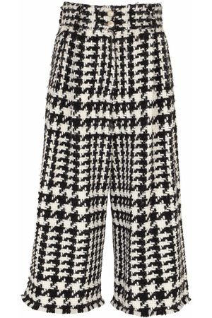 Dolce & Gabbana Women Pants - Houndstooth-pattern cropped trousers