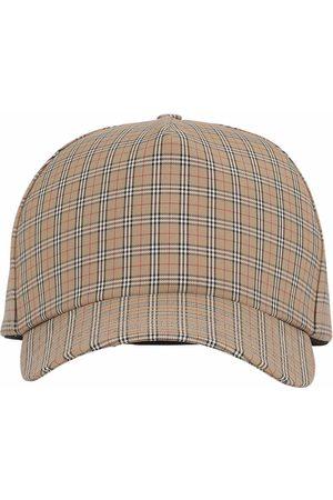 Burberry Men Caps - Microcheck baseball cap