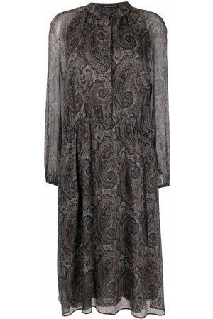 Luisa Cerano Paisley-print semi-sheer dress