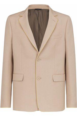 Fendi Men Blazers - Single-breasted gabardine blazer