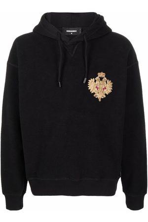Dsquared2 Men Hoodies - Embroidered-motif hoodie
