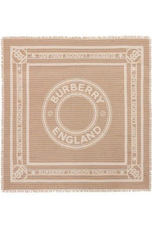 Burberry Large logo-graphic scarf