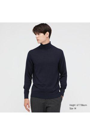 UNIQLO Men's Extra Fine Merino Turtleneck Long-Sleeve Sweater, , S