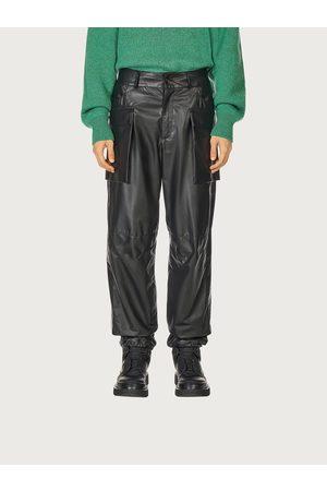 Salvatore Ferragamo Men Nappa leather cargo pants
