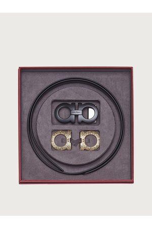 Salvatore Ferragamo Men Belts - Men Gancini Switch belt box