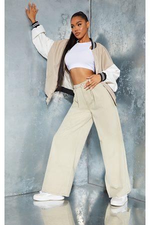 PRETTYLITTLETHING Women Boyfriend Jeans - Stone Seam Detail Wide Leg Baggy Jeans