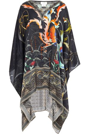 Camilla Women Printed Dresses - Woman Crystal-embellished Printed Silk-satin Kaftan Size ONESIZE