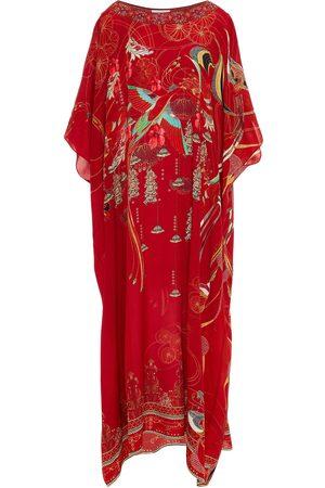 Camilla Woman Crystal-embellished Printed Silk Crepe De Chine Kaftan Size ONESIZE