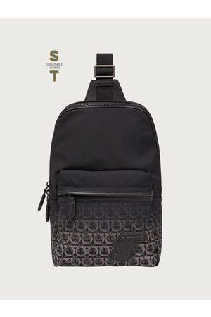 Salvatore Ferragamo Men Luggage - Men SF one shoulder backpack - ECONYL® nylon