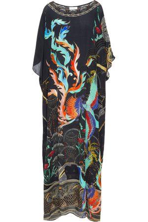 CAMILLA Women Printed Dresses - Woman Crystal-embellished Printed Silk Crepe De Chine Kaftan Size ONESIZE