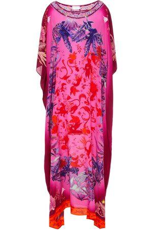Camilla Women Printed Dresses - Woman Crystal-embellished Printed Silk Crepe De Chine Kaftan Bright Size ONESIZE