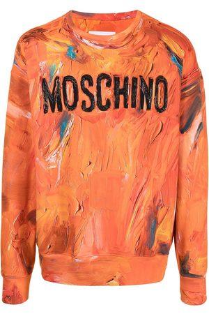 Moschino Crew neck logo-print sweatshirt