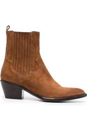 Buttero Women Chelsea Boots - Suede pointed-toe chelsea boots
