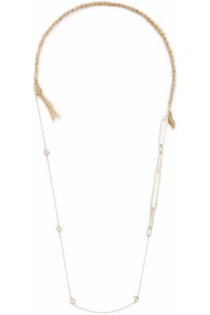 NICK FOUQUET Cord detail chain necklace - Neutrals